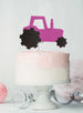 Tractor Cake Topper Glitter Card Hot Pink