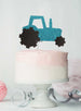 Tractor Cake Topper Glitter Card Light Blue