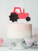 Tractor Cake Topper Glitter Card Light Pink