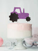 Tractor Cake Topper Glitter Card Light Purple