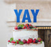 YAY Letter Cake Topper Glitter Card Dark Blue