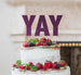 YAY Letter Cake Topper Glitter Card Dark Purple