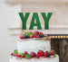 YAY Letter Cake Topper Glitter Card Green