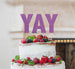 YAY Letter Cake Topper Glitter Card Light Purple
