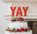 YAY Letter Cake Topper Glitter Card Red
