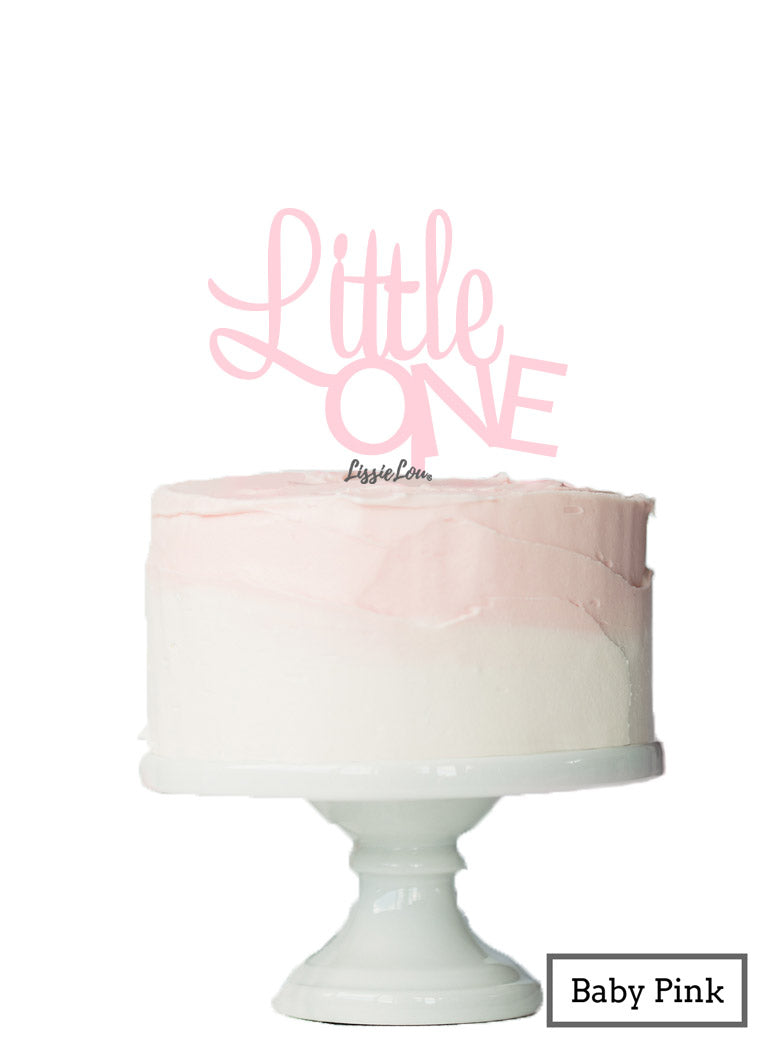 Little One Baby Shower Cake Topper Premium 3mm Acrylic Baby Pink