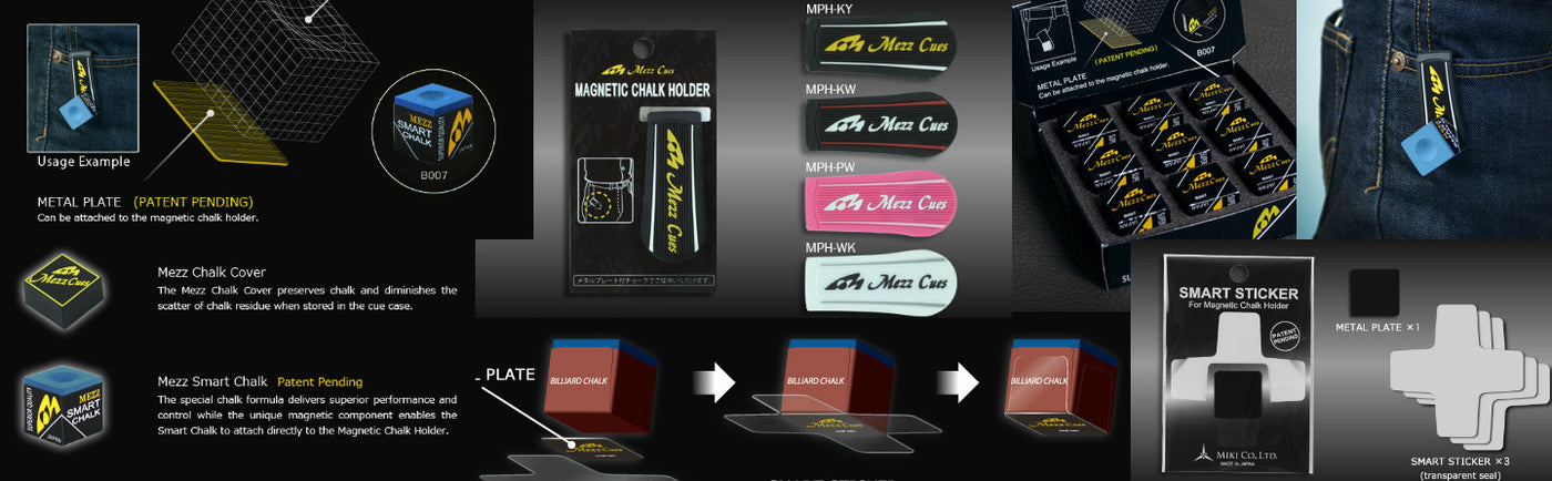 MEZZ CUE CHALK, HOLDERS AND SMART STICKERS COMING SOON!!!!!