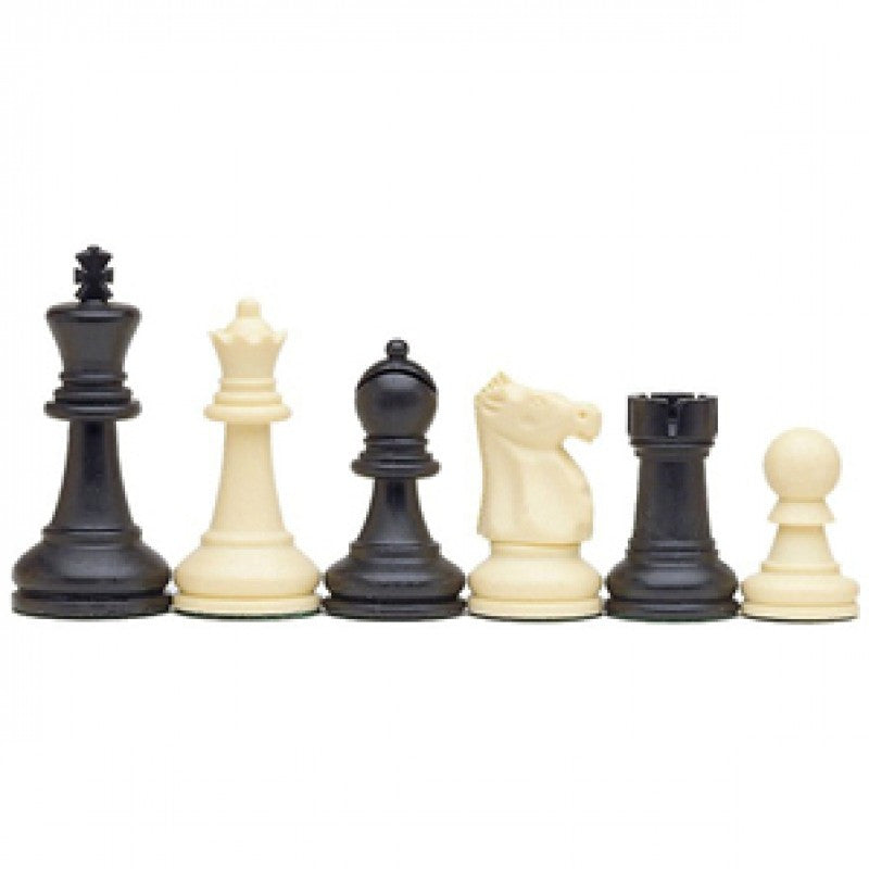 "3 5/8"" STAUNTON CHESSMEN TRIPLE WEIGHTED PLASTIC"