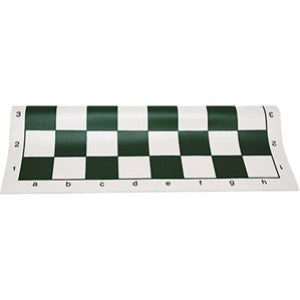 Green Vinyl Roll-Up Chess Board