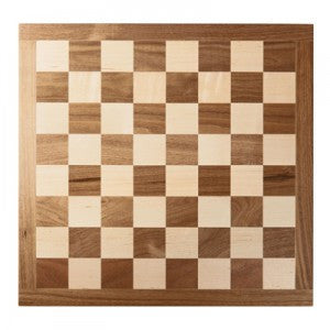 "18"" SOLID WALNUT AND MAPLE WOOD CHESSBOARD"