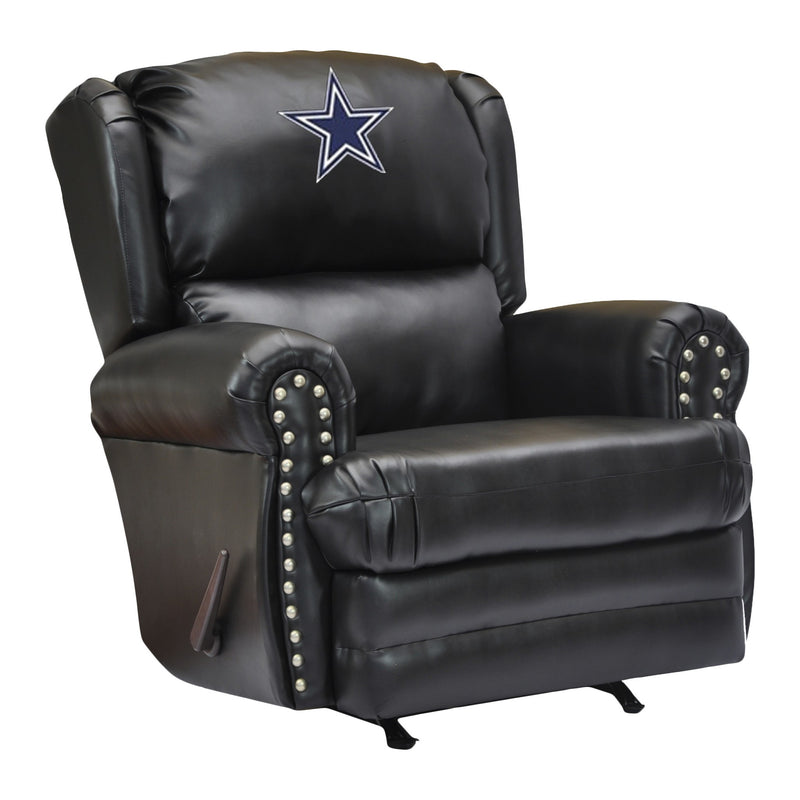Dallas Cowboys Leather Coach Recliner