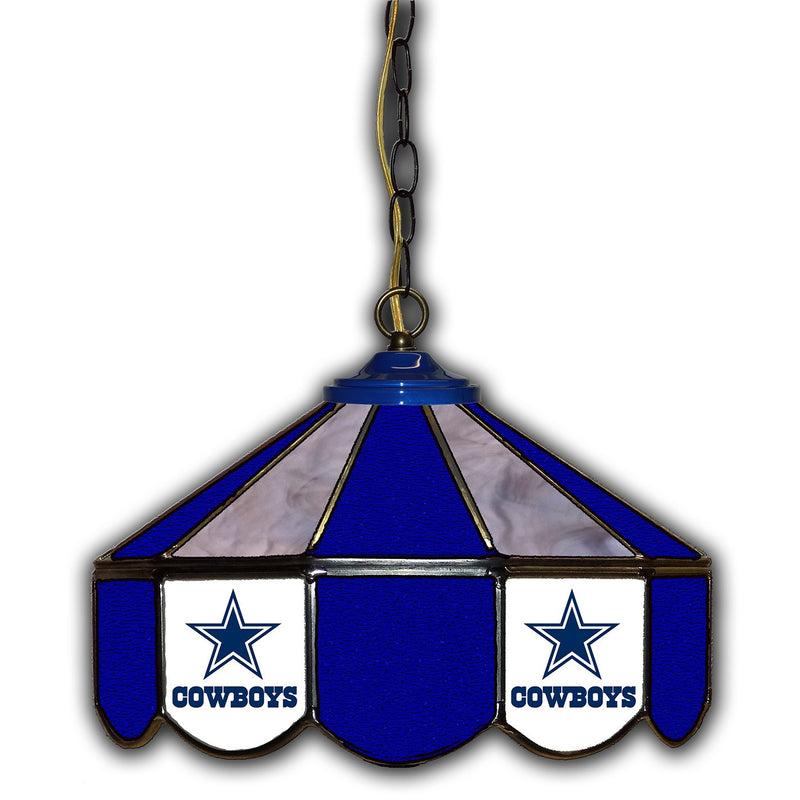 Dallas Cowboys Stain Glass Pub Light