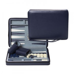 "9"" BLUE MAGNETIC TRAVEL BACKGAMMON"
