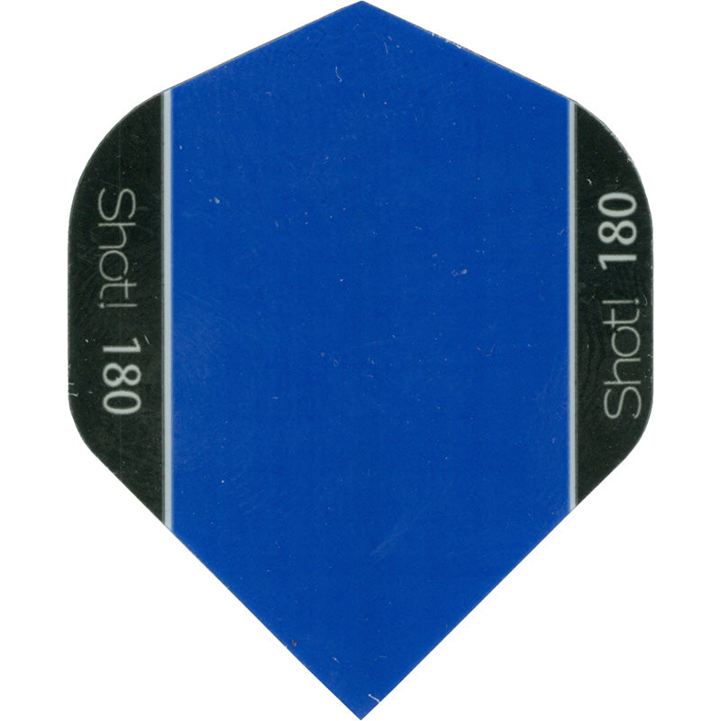 SHOT POLY 180-MICRON STANDARD DART FLIGHTS - BLUE