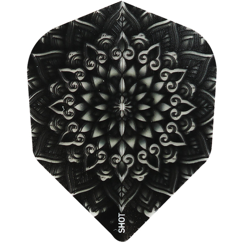 SHOT POLY 100-MICRON SHAPE DART FLIGHTS - HENNA