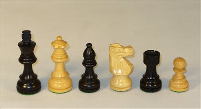 "3.5"" Black French Chessmen"