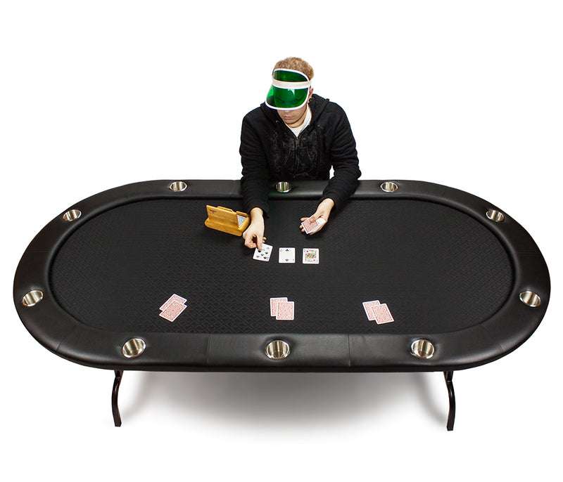 Black Suited Speed Cloth Poker Table