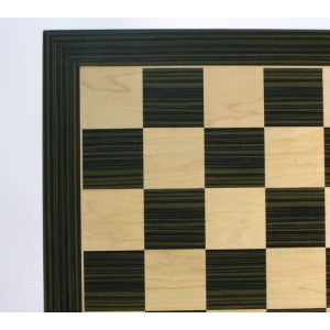 Ebony and Maple Veneer Chess Board