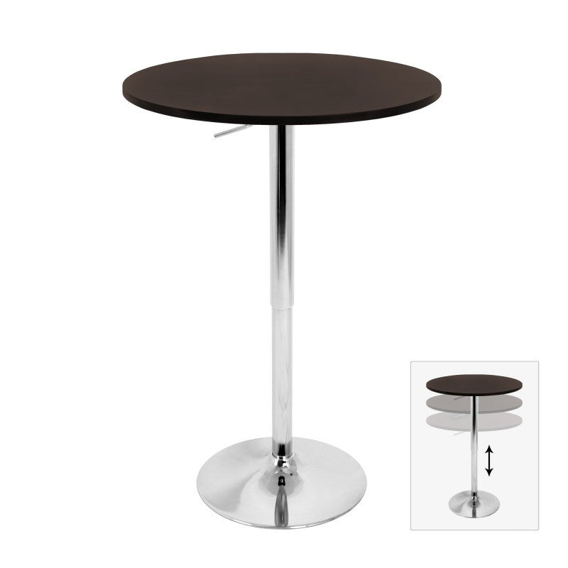 LUMISOURCE ADJUSTABLE PUB TABLE