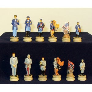 "3.25"" CIVIL WAR PAINTED CHESSMEN"