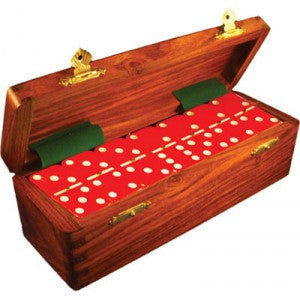 Double Six in Dominos in Wood Case