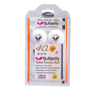 BUTTERFLY 3 STAR BALLS 6 PACK