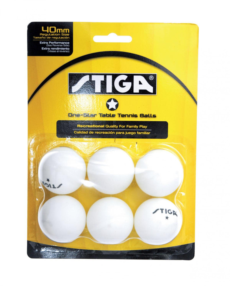 STIGA 1-Star White Balls (6-pack)