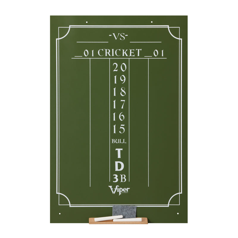 VIPER LARGE CRICKET DRY ERASE SCOREBOARD - GREEN