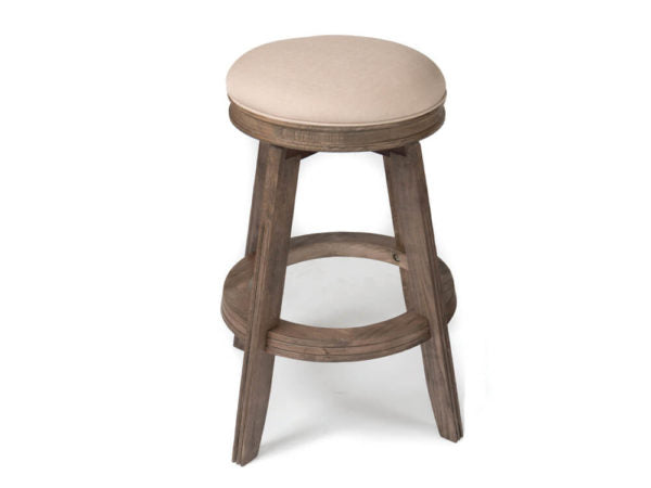 Weathered Oak Pub Stool