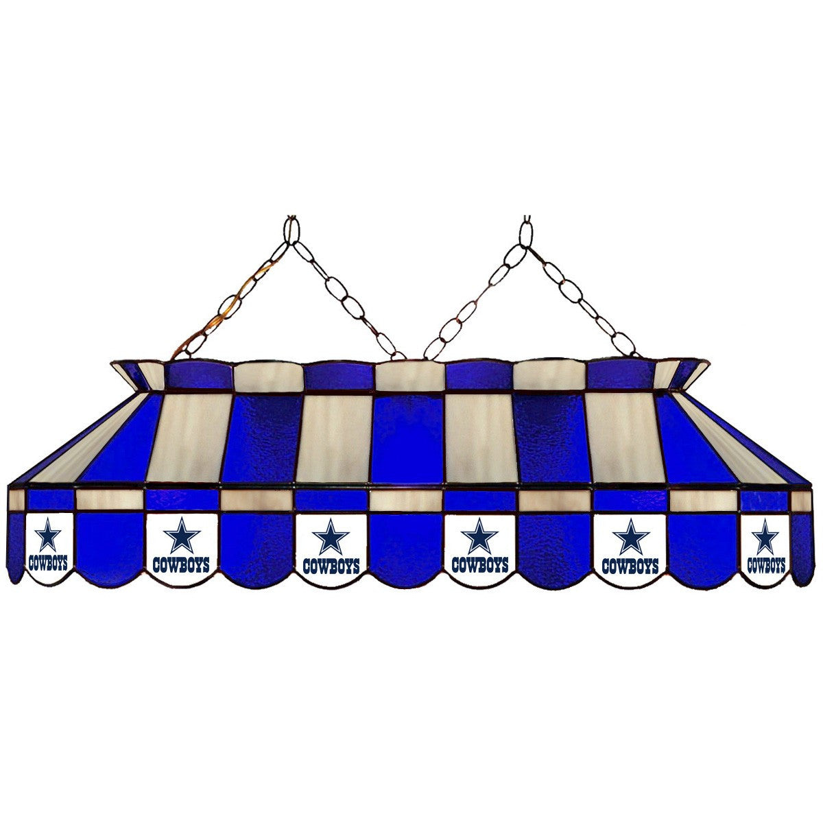 Dallas Cowboys Stain Glass Pool Table Light