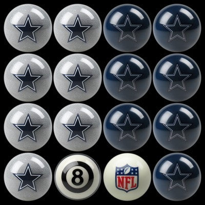 Dallas Cowboys Pool Ball Set