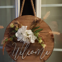 Round Wooden Home Decor Signs