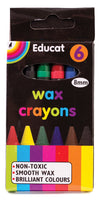 Wax Crayons -Small 8mm (6's)