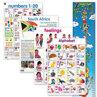 Educat wall chart 5 pack genral knowledge