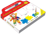 Activity board book and Pen Colours and Shapes - English