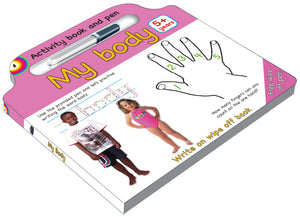 Activity board book and pen our_body- English