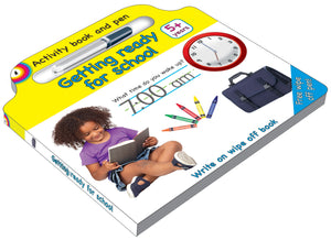 Activity board book and pen Ready for school - English