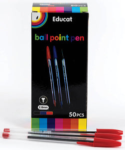 RED BALL POINT PEN PACK-50PCS
