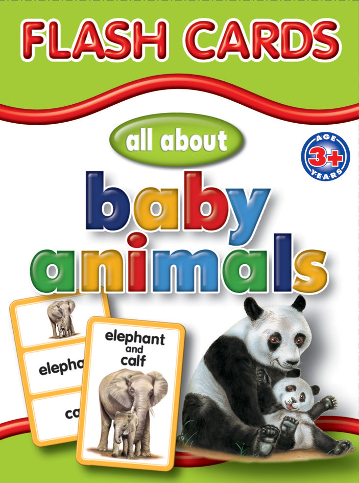 Big Flash Cards - Baby Animals - English