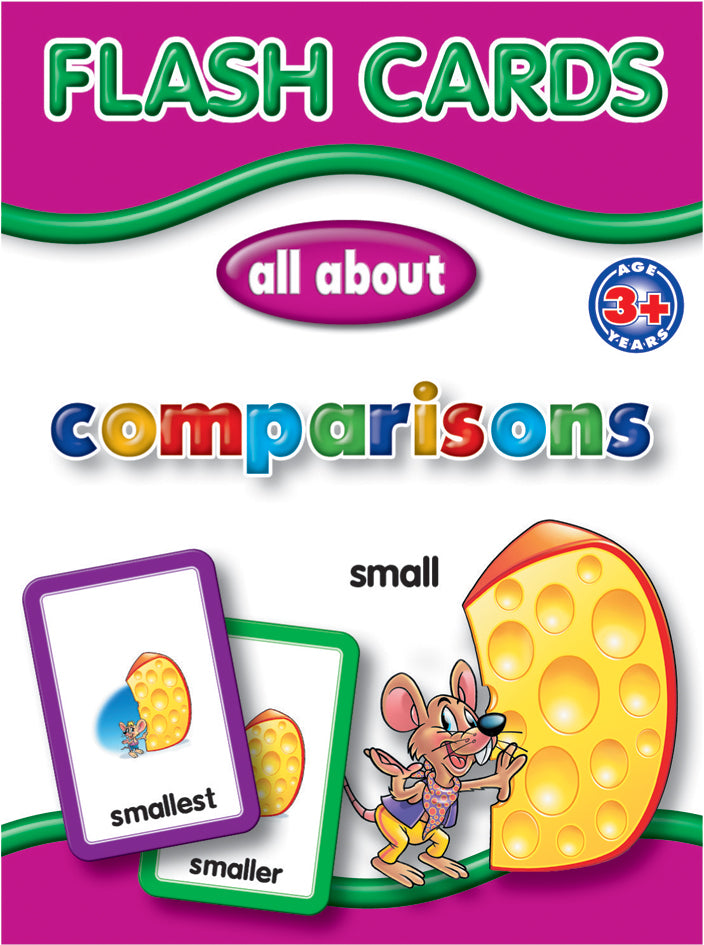 Big Flash Cards -  Comparisons - English