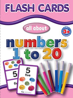 Big Flash Cards -   Numbers 1 - 20 - English