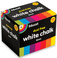 White Chalk Box (100's) 8mm