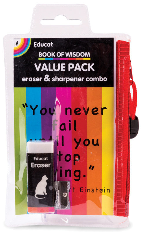 ERASER + SHARPENER- VALUE PACK