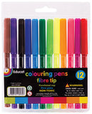 FIBRE TIP COLOURING PENCILS-12