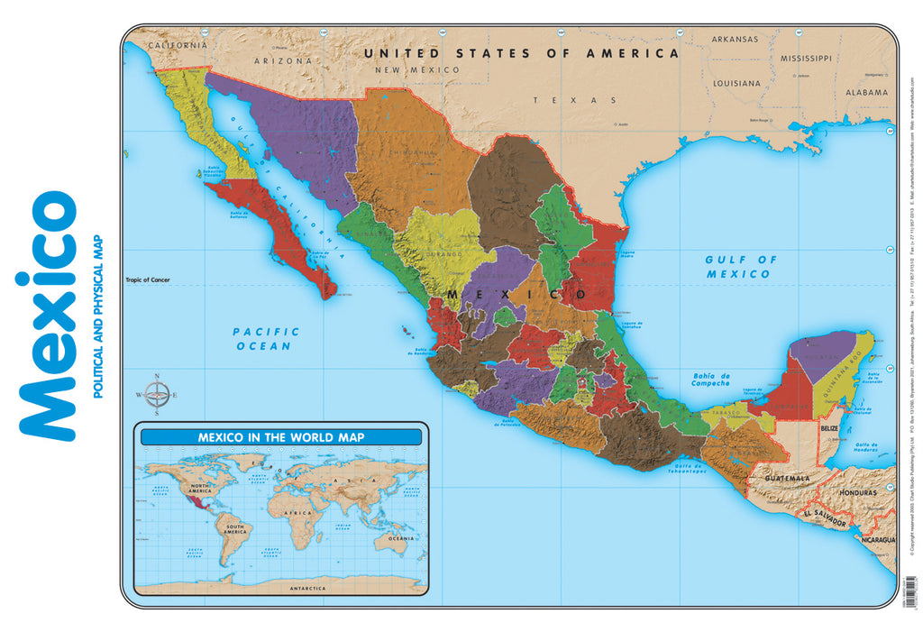 Poster - Mexico map
