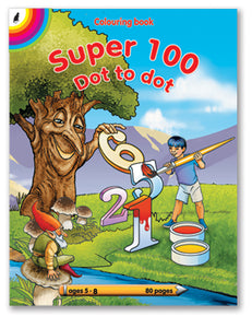 COLOURING BOOK - Super 100 Dot to Dot (80)