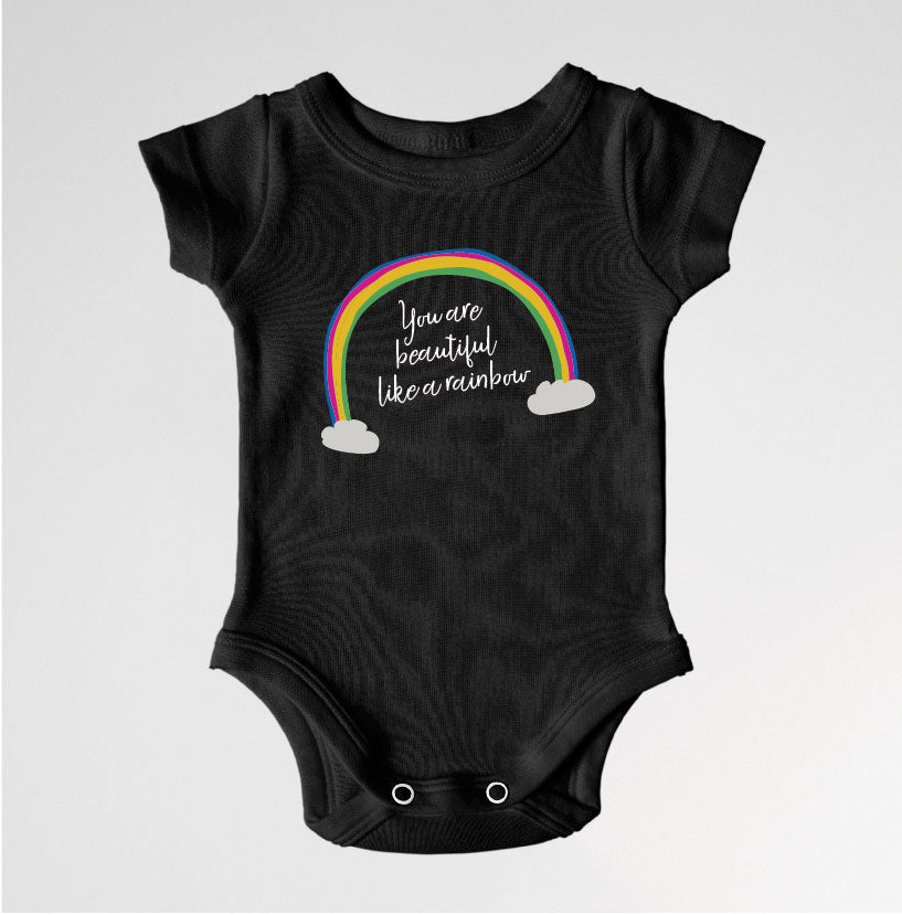 56703e0152 You are beautiful like a rainbow Onesie
