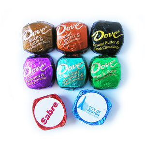 Branded Dove Chocolate Bar Mini Squares