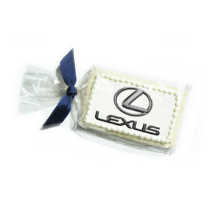"3"" x 2"" Logo Sugar Cookie in Cello Bag"