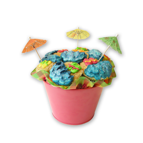Beach Cupcake Bouquet